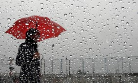 LLuvia desde ventana.