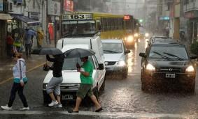 LLuvia en la calle.